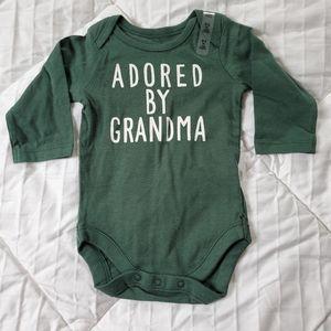 Adored by Grandma onesie Size 0-3mo NWT